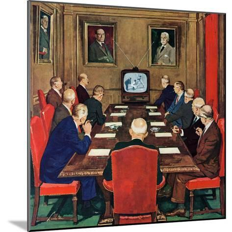 """""""Baseball in the Boardroom,"""" October 8, 1960-Lonie Bee-Mounted Giclee Print"""