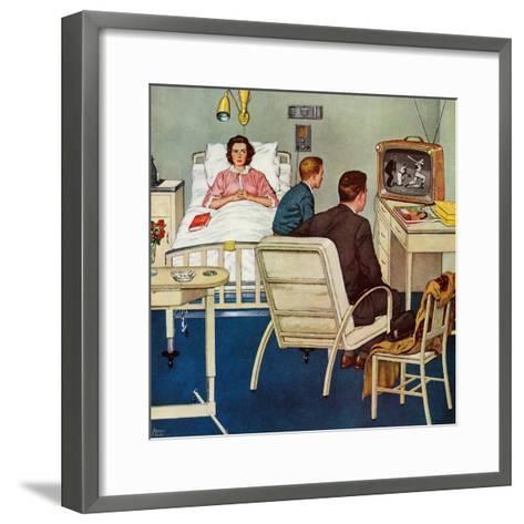 """Baseball in the Hospital,"" April 29, 1961-Amos Sewell-Framed Art Print"