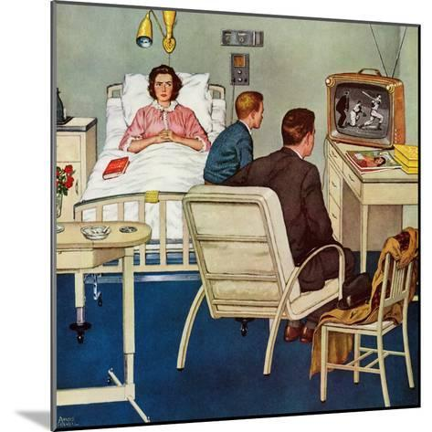 """""""Baseball in the Hospital,"""" April 29, 1961-Amos Sewell-Mounted Giclee Print"""