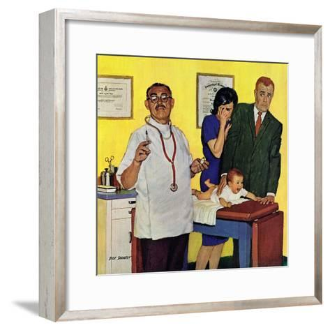 """Baby's First Shot,"" March 3, 1962-Richard Sargent-Framed Art Print"