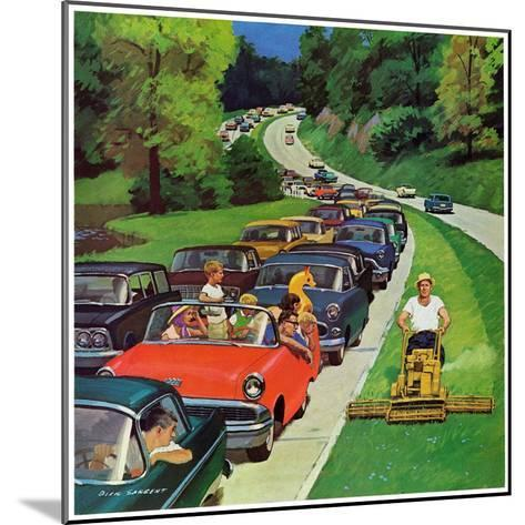 """Speeder on the Median,"" June 2, 1962-Richard Sargent-Mounted Giclee Print"
