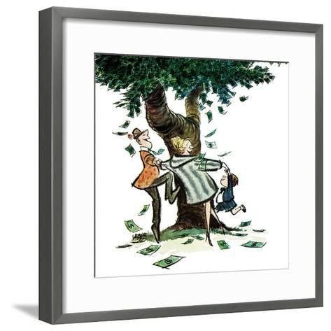 """Money, Money, Money,"" December 30, 1967-Robert Weber-Framed Art Print"