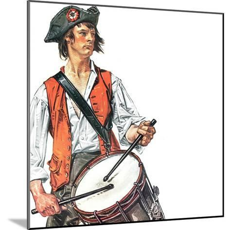 """Re-print of ""Colonial Drummer"","" July/Aug 1976-Joseph Christian Leyendecker-Mounted Giclee Print"