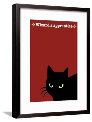 Black Cat in Red-Ikuko Kowada-Framed Art Print