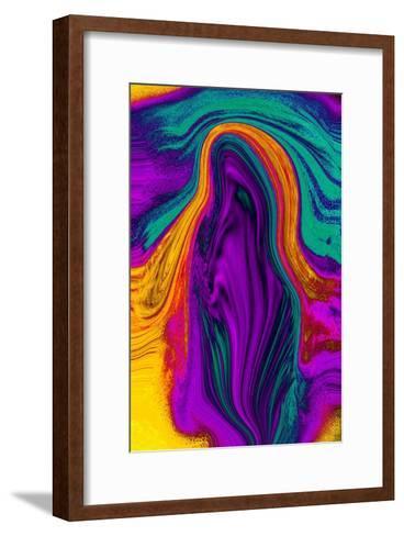 Nirvana: The Leaf of Red Purple Is an Incarnation of the Soul-Masaho Miyashima-Framed Art Print