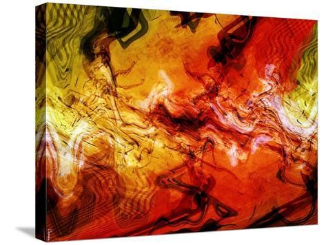 Abstract 21-Shiroki Kimaneka-Stretched Canvas Print