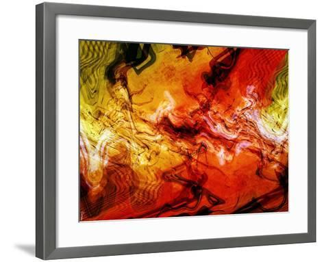 Abstract 21-Shiroki Kimaneka-Framed Art Print