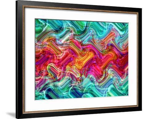 Abstract 26-Shiroki Kimaneka-Framed Art Print