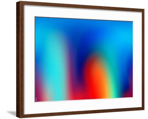 Abstract 40-Shiroki Kimaneka-Framed Art Print