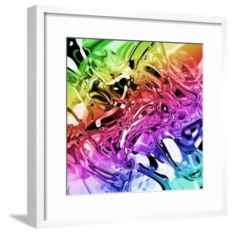Abstract 54-Shiroki Kimaneka-Framed Art Print