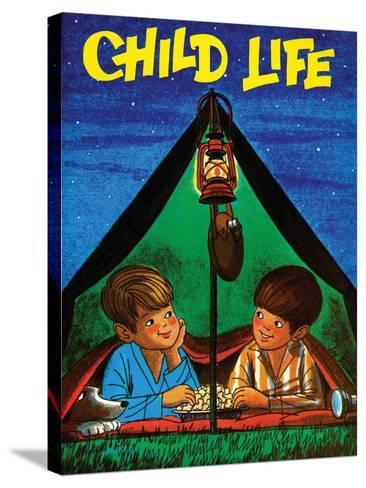 Camping - Child Life, August 1971-Joy Friedman-Stretched Canvas Print