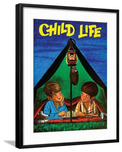 Camping - Child Life, August 1971-Joy Friedman-Framed Art Print