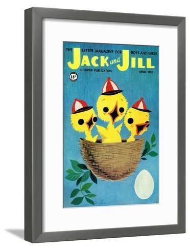 Baby Birds - Jack and Jill, April 1958-Phyllis Gimour-Framed Art Print