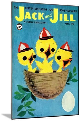 Baby Birds - Jack and Jill, April 1958-Phyllis Gimour-Mounted Giclee Print