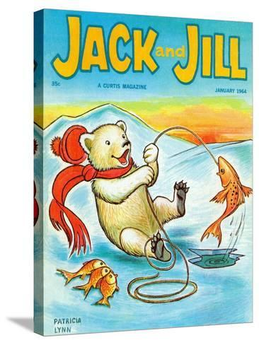 A Real Fish Story - Jack and Jill, January 1964-Patricia Lynn-Stretched Canvas Print