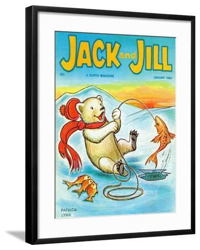 A Real Fish Story - Jack and Jill, January 1964-Patricia Lynn-Framed Art Print