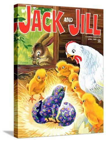 Easter Surprise - Jack and Jill, April 1968-Rae Owings-Stretched Canvas Print