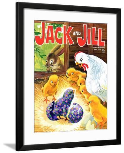 Easter Surprise - Jack and Jill, April 1968-Rae Owings-Framed Art Print