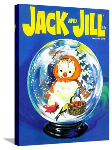 Shake Up a Snowstorm - Jack and Jill, January 1970-Rae Owings-Stretched Canvas Print