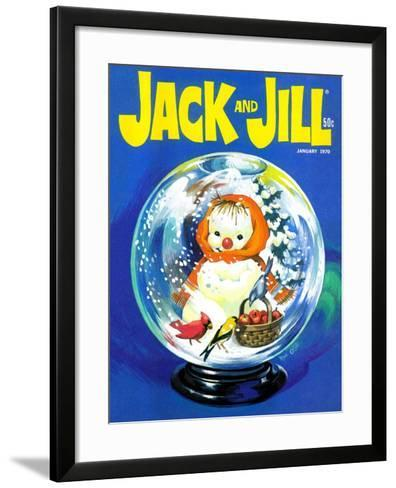 Shake Up a Snowstorm - Jack and Jill, January 1970-Rae Owings-Framed Art Print