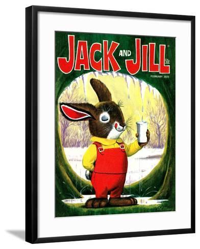 Splashing Into Spring - Jack and Jill, February 1970-Cal Massey-Framed Art Print