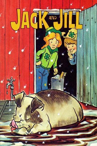 Muddy Bath - Jack and Jill, January 1985--Stretched Canvas Print