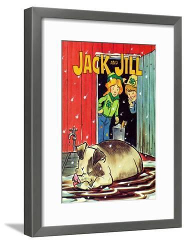 Muddy Bath - Jack and Jill, January 1985--Framed Art Print