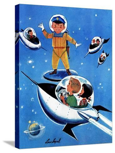 A Day in Outerspace - Jack and Jill, September 1957-Lou Segal-Stretched Canvas Print