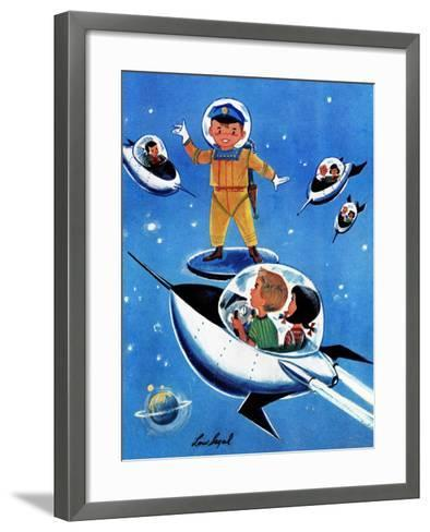 A Day in Outerspace - Jack and Jill, September 1957-Lou Segal-Framed Art Print