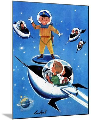 A Day in Outerspace - Jack and Jill, September 1957-Lou Segal-Mounted Giclee Print