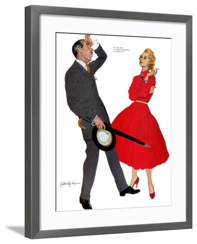 "The Second Mrs. Thorpe - Saturday Evening Post ""Leading Ladies"", February 9, 1957 pg.22-Joe deMers-Framed Art Print"