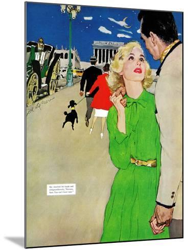 "Fugitive From Romance - Saturday Evening Post ""Leading Ladies"", April 6, 1957 pg.35-Joe deMers-Mounted Giclee Print"