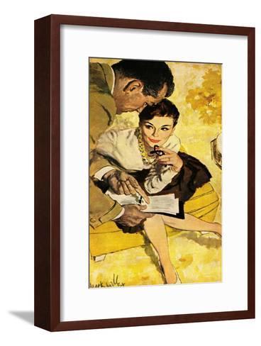 "The Progressive Approach  - Saturday Evening Post ""Leading Ladies"", December 16, 1960 pg.30-Mark Miller-Framed Art Print"