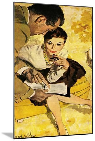 """The Progressive Approach  - Saturday Evening Post """"Leading Ladies"""", December 16, 1960 pg.30-Mark Miller-Mounted Giclee Print"""