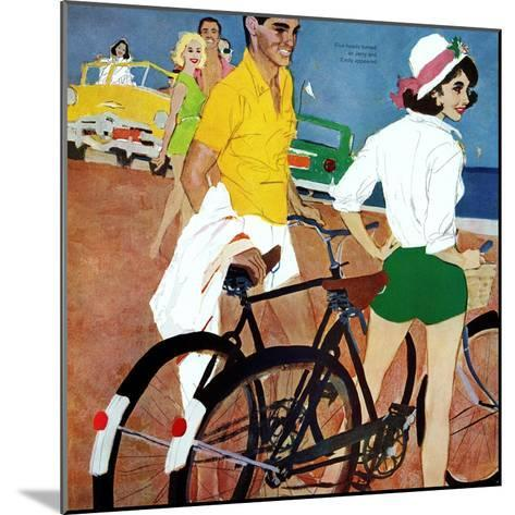 """Too Slow for the Crowd - Saturday Evening Post """"Leading Ladies"""", March 11, 1961 pg.27-Joe deMers-Mounted Giclee Print"""