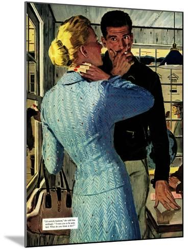 """The Golden Shadow - Saturday Evening Post """"Men at the Top"""", March 2, 1957 pg.20-Mac Conner-Mounted Giclee Print"""