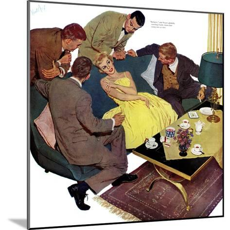 """Marriagable Age - Saturday Evening Post """"Men at the Top"""", December 13, 1958 pg.28-Kurt Ard-Mounted Giclee Print"""