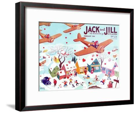 Valentine's  - Jack and Jill, February 1941-Michael Berry-Framed Art Print