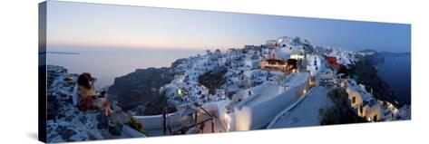 Village of Oia (La), Santorini (Thira), Cyclades Islands, Greece-Gavin Hellier-Stretched Canvas Print