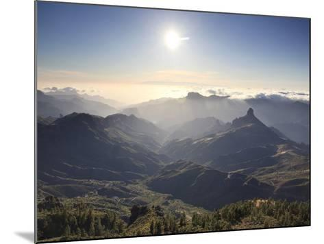 Canary Islands, Gran Canaria, Central Mountains, View of West Gran Canaria from Roque Nublo-Michele Falzone-Mounted Photographic Print