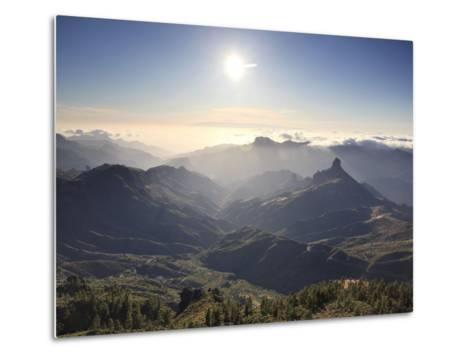 Canary Islands, Gran Canaria, Central Mountains, View of West Gran Canaria from Roque Nublo-Michele Falzone-Metal Print