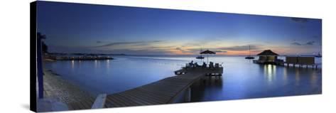 Caribbean, Netherland Antilles, Bonaire, Beach Resort-Michele Falzone-Stretched Canvas Print