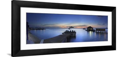 Caribbean, Netherland Antilles, Bonaire, Beach Resort-Michele Falzone-Framed Art Print