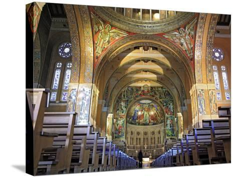 Basilica of St; Therese, Lisieux, Calvados Departement, Lower Normandy, France-Ivan Vdovin-Stretched Canvas Print