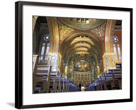 Basilica of St; Therese, Lisieux, Calvados Departement, Lower Normandy, France-Ivan Vdovin-Framed Art Print