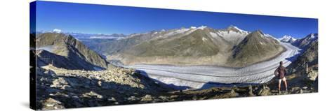 Switzerland, Valais, Jungfrau Region, Aletsch Glacier from Mt; Eggishorn (Unesco Site)-Michele Falzone-Stretched Canvas Print