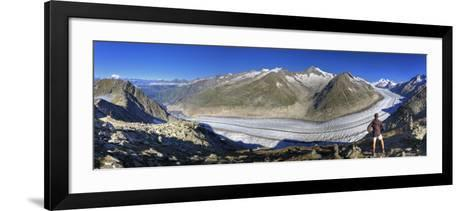 Switzerland, Valais, Jungfrau Region, Aletsch Glacier from Mt; Eggishorn (Unesco Site)-Michele Falzone-Framed Art Print