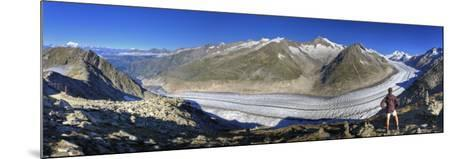 Switzerland, Valais, Jungfrau Region, Aletsch Glacier from Mt; Eggishorn (Unesco Site)-Michele Falzone-Mounted Photographic Print