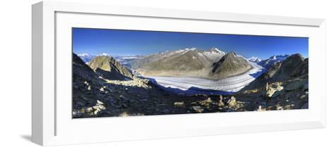 Switzerland, Valais, Jungfrau Region, Aletsch Glacier from Mt; Eggishorn (Unesco Site)-Michele Falzone-Framed Art Print