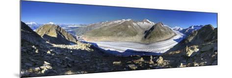 Switzerland, Valais, Jungfrau Region, Aletsch Glacier from Mt; Eggishorn (Unesco Site)-Michele Falzone-Mounted Photographic Print